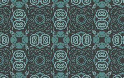 free vector Bluish Floral Wallpaper