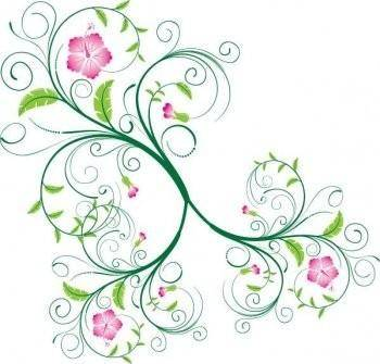 Swirl Floral Vector, photoshop eps swirl floral vector, flower vector eps photoshop design tutorial