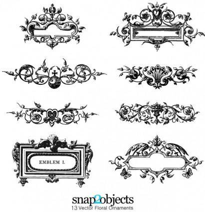 free vector Free Vector Floral Ornaments Pack 03