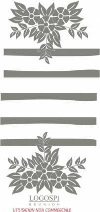 free vector Floral logo