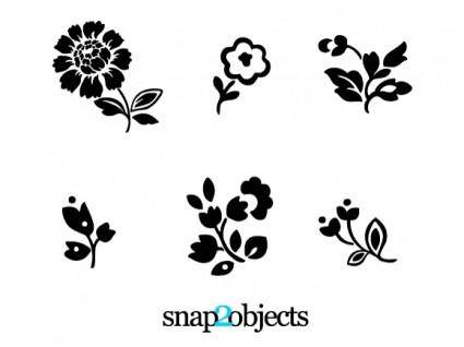 free vector 6 Floral Vector