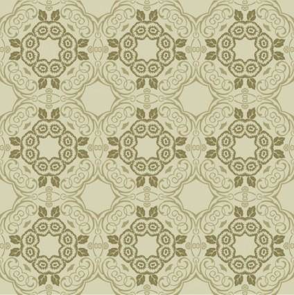 free vector Green Floral Wallpaper