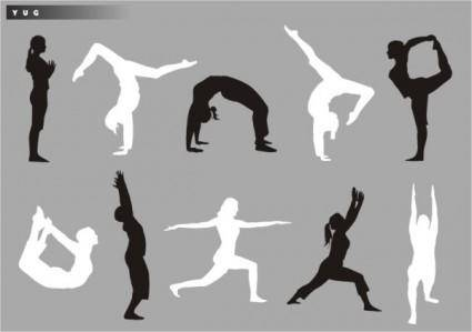free vector Yoga silhouette vector