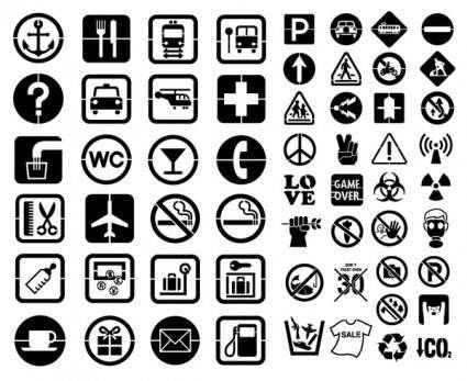 free vector Vector elements of silhouette public identity 58 elements