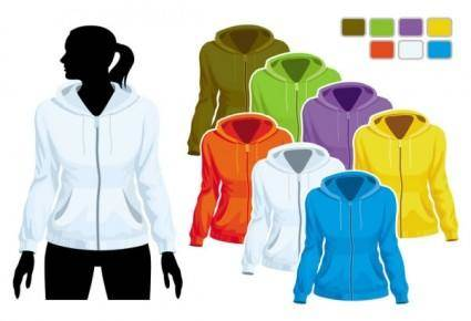 free vector Sweater template 01 vector