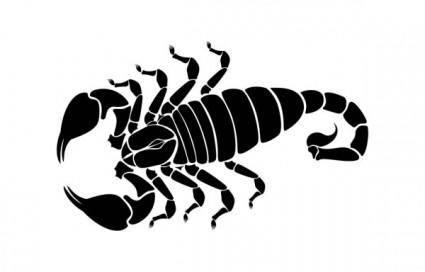 free vector Scorpion silhouette vector