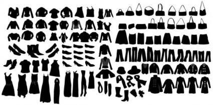 Clothing silhouette 02 vector