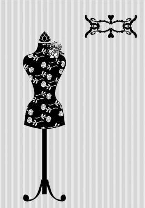 free vector Black and white silhouette hanger model 01 vector