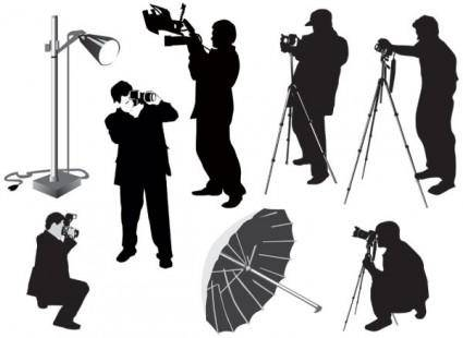 Photographer silhouette 02 vector