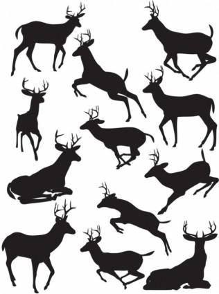 Elk black silhouette vector