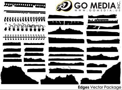 Go media produced vector all kinds of paper silhouette