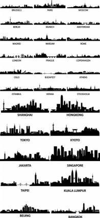 free vector Wellknown city silhouette vector