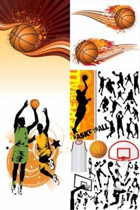 free vector Basketball silhouette vector