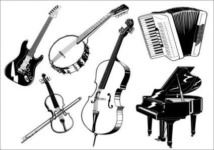 free vector Musical instruments the class vector b
