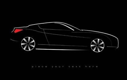 free vector Car silhouette vector 2