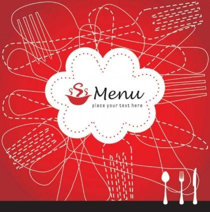 Exquisite menu cover 01 vector