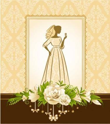 free vector Bride silhouette 02 vector