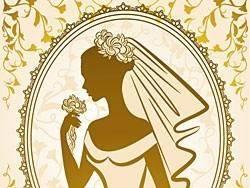 Bride silhouette 04 vector