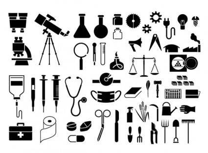 Various elements of vector silhouette articles 54 elements