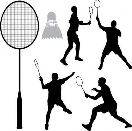 free vector Badminton silhouette vector