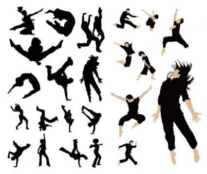 free vector Dancing people vector