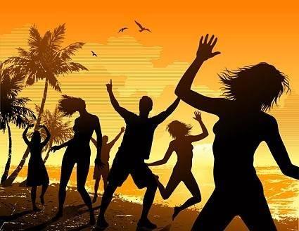free vector Seaside carnival figures silhouette vector