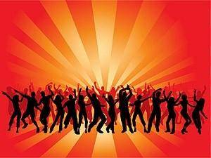 free vector Men and women dancing in silhouette figures vector