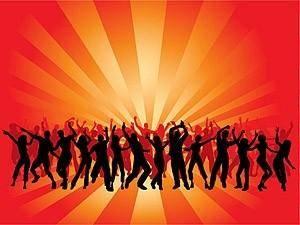 free vector Men and women dancing in silhouette figures vector