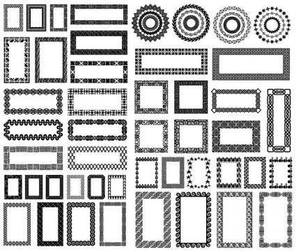 free vector Various elements of vector silhouette lace border 55 elements