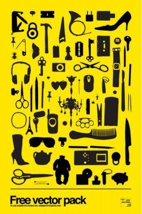 Sophisticated tools silhouette vector