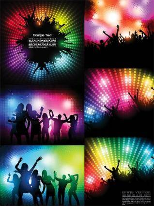 free vector The trend of party figures silhouette vector