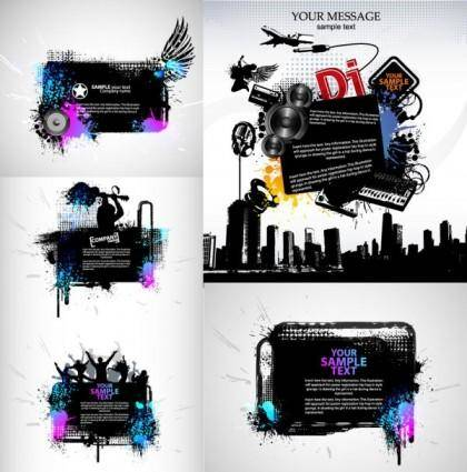 Theme music silhouette vector the trend