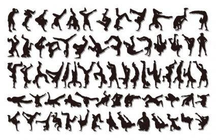 free vector HipHop Silhouettes