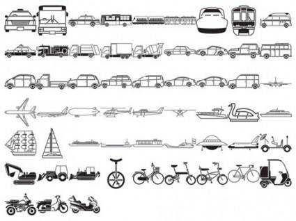 Free Vehicles Silhouette Vector