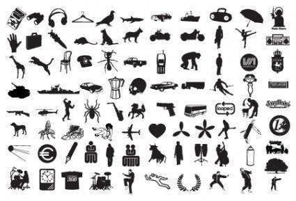 free vector Vector Silhouette Mix