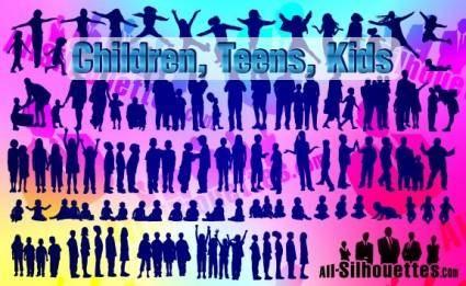 free vector Vector Children, Kids, Teens,