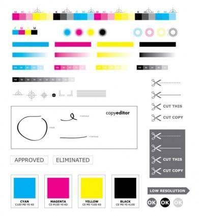 free vector Standard cmyk color values u200bu200b vector