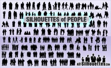 free vector Silhouettes of people