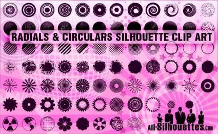 free vector Radials & Circulars Silhouettes Clipart