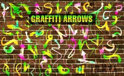 free vector Vector Graffiti Arrows