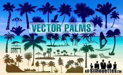 free vector Vector Palms