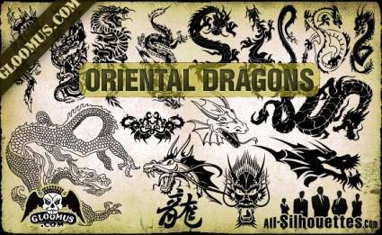 Vector Oriental Dragons