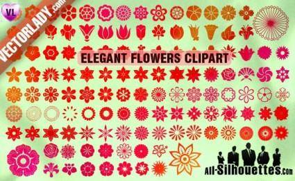 free vector Vector Flowers Clipart