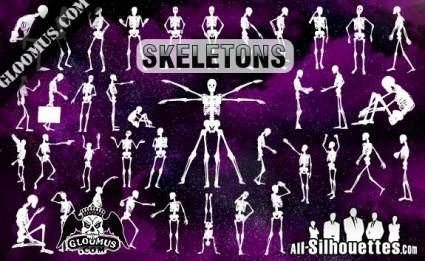 Skeletons Vector Clipart