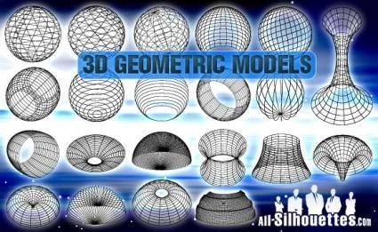 free vector 3D Geometric Models