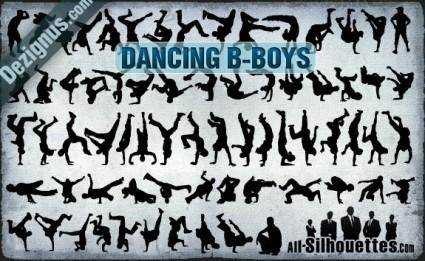 free vector Vector Dancing B-boys