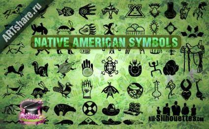 free vector Native American Symbols