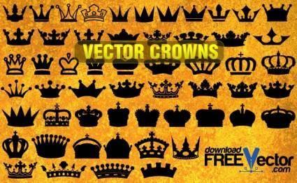 free vector Vector Crowns