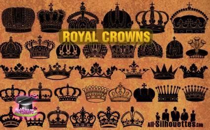 free vector Vector Royal Crowns