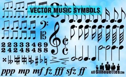 free vector Vector Music Symbols